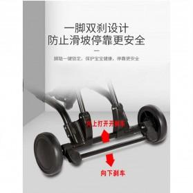 SAITONG Kereta Stroller Bayi Foldable Children Baby Trolley with Fence - LW-112 - Black - 4