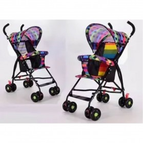 SPARKY Foldable Children Trolley Baby Stroller with Fence - SW517 - Multi-Color - 2