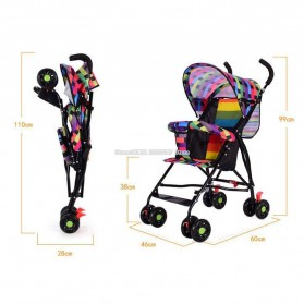 SPARKY Foldable Children Trolley Baby Stroller with Fence - SW517 - Multi-Color - 3