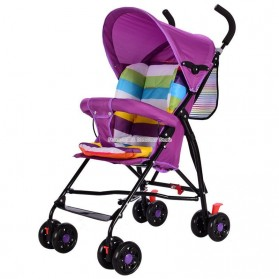 SPARKY Foldable Children Trolley Baby Stroller with Fence - SW517 - Multi-Color - 4