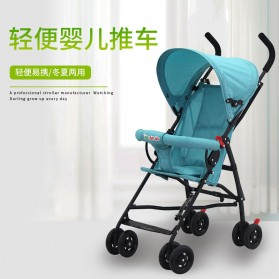 SPARKY Foldable Children Trolley Baby Stroller with Fence - S101 - Gray - 2