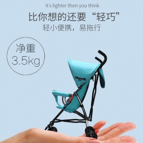SPARKY Foldable Children Trolley Baby Stroller with Fence - S101 - Gray - 3