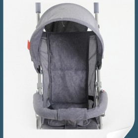 SPARKY Foldable Children Trolley Baby Stroller with Fence - S101 - Gray - 5