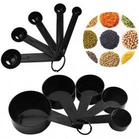 ZISIZI Sendok Takar Ukur Cup Measuring Spoon Size L 5 PCS - CF233 - Black - 2