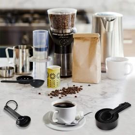 ZISIZI Sendok Takar Ukur Cup Measuring Spoon Size L 5 PCS - CF233 - Black - 3