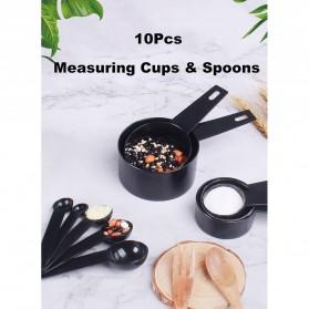 ZISIZI Sendok Takar Ukur Cup Measuring Spoon Size L 5 PCS - CF233 - Black - 6