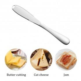 Meijuner Butter Knife Pisau Oles Mentega Margarin Selai - SS430 - Silver
