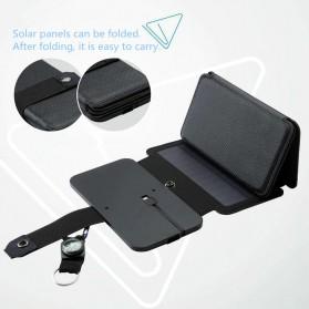 KERNUAP Charger Solar Panel Portable 5 Folding USB Output Port 9W 5V - KER-SO1 - Black - 3