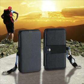 KERNUAP Charger Solar Panel Portable 5 Folding USB Output Port 9W 5V - KER-SO1 - Black - 4