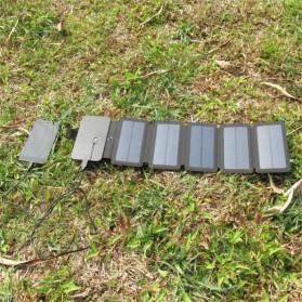 KERNUAP Charger Solar Panel Portable 5 Folding USB Output Port 9W 5V - KER-SO1 - Black - 5