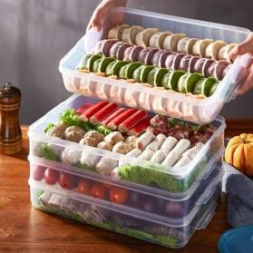 LuckyFox Kotak Kontainer Makanan Kulkas Kitchen Storage Food Box - RFS48 - Transparent