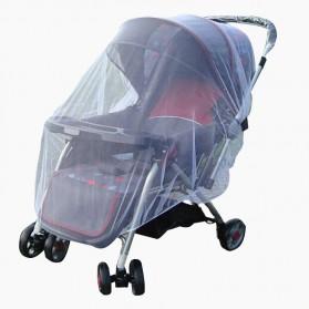 Perlengkapan Stroller Bayi - Alloet Jaring Anti Nyamuk Stroller Kereta Bayi Mosquito Net Safe - 7001-C - White
