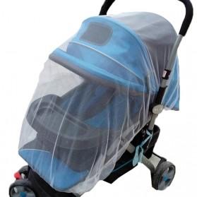 Alloet Jaring Anti Nyamuk Stroller Kereta Bayi Mosquito Net Safe - 7001-C - White - 3