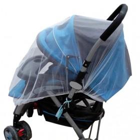 Alloet Jaring Anti Nyamuk Stroller Kereta Bayi Mosquito Net Safe - 7001-C - White - 4