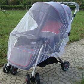 Alloet Jaring Anti Nyamuk Stroller Kereta Bayi Mosquito Net Safe - 7001-C - White - 7
