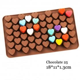 AILEHOPY Cetakan Coklat Es Batu Ice Cube Tray Mold Model Love - DU996 - Chocolate