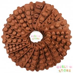 AILEHOPY Cetakan Coklat Es Batu Ice Cube Tray Mold Model Love - DU996 - Chocolate - 2