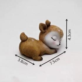 Fan Yong Four Hiasan Dekorasi Kue 3D Gypsum Resin Mold Fondant Cake Decoration Sleeping Deer - CI4 - Chocolate - 3