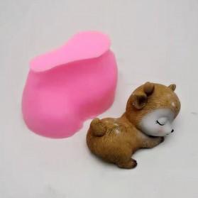 Fan Yong Four Hiasan Dekorasi Kue 3D Gypsum Resin Mold Fondant Cake Decoration Sleeping Deer - CI4 - Chocolate - 4