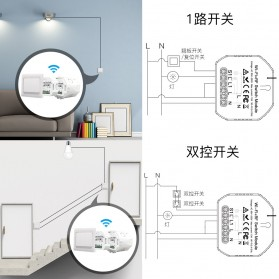 IGRELI Module Controller WiFi RF Switch Module Smart Home Control - WK201 - White - 8