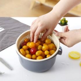 Asy Baskom Saringan Cuci Buah Sayuran Drain Bucket Double Layer Size Large - DP150 - Gray/Blue - 5