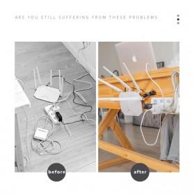 TCMAKE Rak Gantungan Hook Wall Hanger Organizer Adhesive 6x6cm 5 Pair - TC21 - Transparent - 4