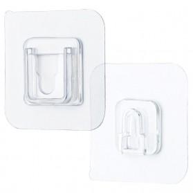 TCMAKE Rak Gantungan Hook Wall Hanger Organizer Adhesive 6x6cm 5 Pair - TC21 - Transparent - 6