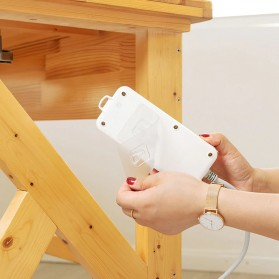 TCMAKE Rak Gantungan Hook Wall Hanger Organizer Adhesive 6x6cm 5 Pair - TC21 - Transparent - 7