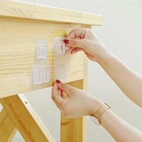 TCMAKE Rak Gantungan Hook Wall Hanger Organizer Adhesive 6x6cm 5 Pair - TC21 - Transparent - 8