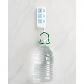 TCMAKE Rak Gantungan Hook Wall Hanger Organizer Adhesive 6x6cm 5 Pair - TC21 - Transparent - 9