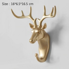 IAMPRETTY Gantungan Dinding Wall Hanging Hook Model Antlers Head - RY-92401 - Golden - 1