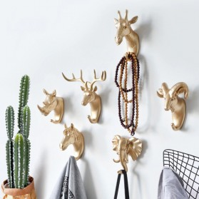 IAMPRETTY Gantungan Dinding Wall Hanging Hook Model Antlers Head - RY-92401 - Golden - 2