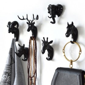 IAMPRETTY Gantungan Dinding Wall Hanging Hook Model Antlers Head - RY-92401 - Golden - 4