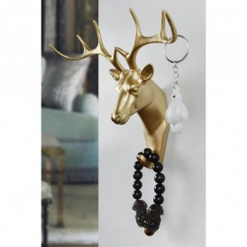 IAMPRETTY Gantungan Dinding Wall Hanging Hook Model Antlers Head - RY-92401 - Golden - 7
