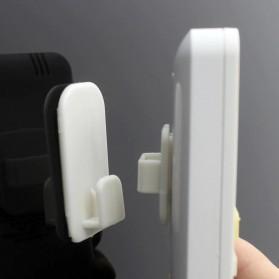 TCMAKE Rak Gantungan Hook Wall Hanger Organizer Adhesive 2 Pair - TC22 - White - 5