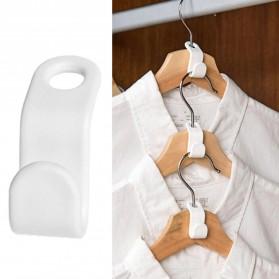DIDIHOU Hanger Gantungan Baju Wardrobe Closet Connect Hook 1PCS - DH12 - White