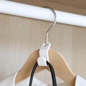 DIDIHOU Hanger Gantungan Baju Wardrobe Closet Connect Hook 1PCS - DH12 - White - 3