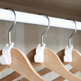 DIDIHOU Hanger Gantungan Baju Wardrobe Closet Connect Hook 1PCS - DH12 - White - 4