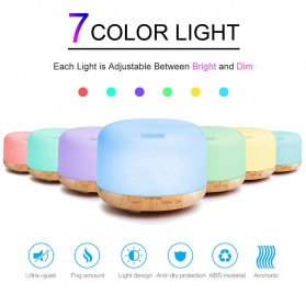 Himist Air Humidifier Aromatherapy Oil Diffuser 7 Color 500ml with Remote Control - HK70 - White - 3
