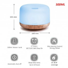 Himist Air Humidifier Aromatherapy Oil Diffuser 7 Color 500ml with Remote Control - HK70 - White - 5