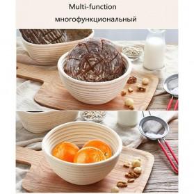 SHENHONG Cetakan Adonan Kue Rotan Bread Dough Rattan Banneton Basket Round-XL - PJ536 - Khaki - 11