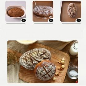 SHENHONG Cetakan Adonan Kue Rotan Bread Dough Rattan Banneton Basket Round-XL - PJ536 - Khaki - 12