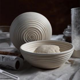 SHENHONG Cetakan Adonan Kue Rotan Bread Dough Rattan Banneton Basket Round-XL - PJ536 - Khaki - 4