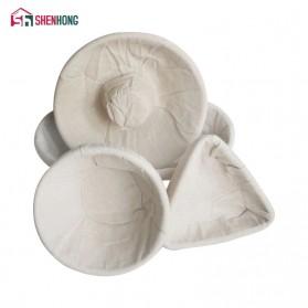 SHENHONG Cetakan Adonan Kue Rotan Bread Dough Rattan Banneton Basket Round-XL - PJ536 - Khaki - 5