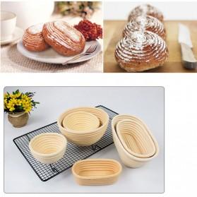 SHENHONG Cetakan Adonan Kue Rotan Bread Dough Rattan Banneton Basket Round-XL - PJ536 - Khaki - 6