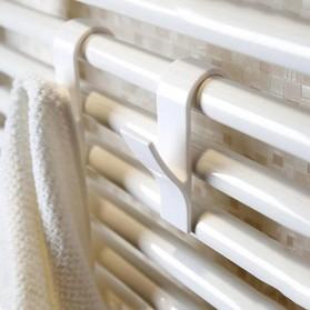 Alloet Gantungan Handuk Towel Radiator Rail Hanger Hook 6 PCS - M15 - White - 2