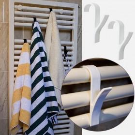 Alloet Gantungan Handuk Towel Radiator Rail Hanger Hook 6 PCS - M15 - White - 3