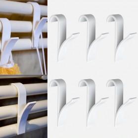 Alloet Gantungan Handuk Towel Radiator Rail Hanger Hook 6 PCS - M15 - White - 4