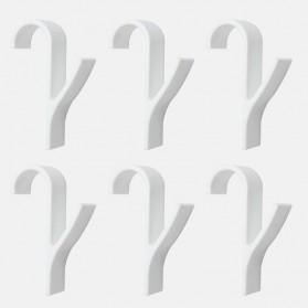 Alloet Gantungan Handuk Towel Radiator Rail Hanger Hook 6 PCS - M15 - White - 5