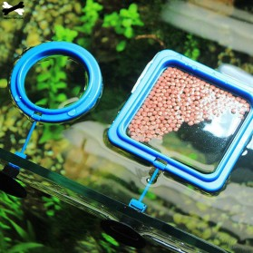 FPC Ring Tempat Makan Ikan Tank Station Floating Food Tray - AFR48 - Blue - 3